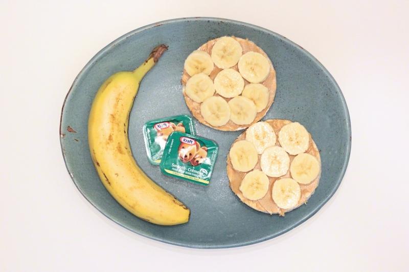 Banana PB rice cake_Fotor