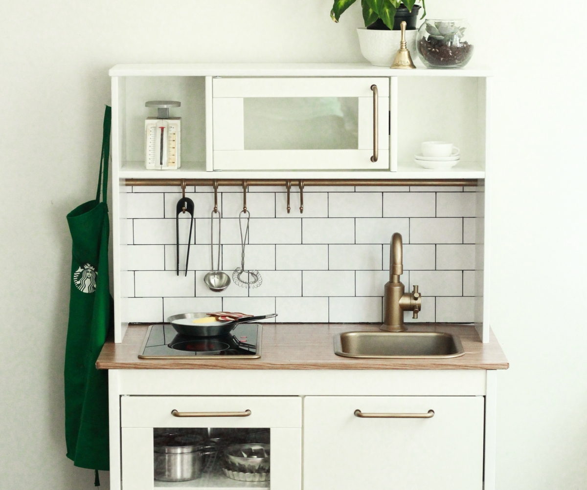 The Revamped IKEA Play Kitchen - An affordable way to create your dream kitchen...just miniature size.